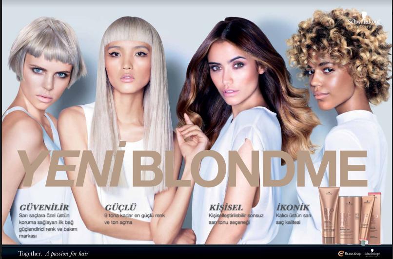 Blond Me ilan tasarımı