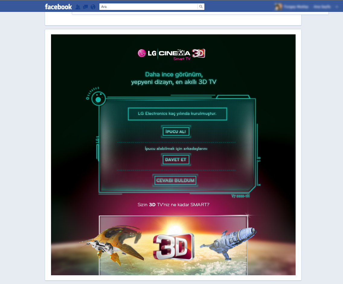 LG facebook app tasarımları
