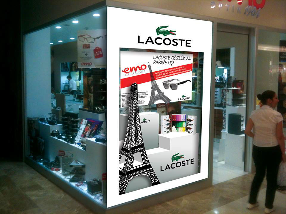 Lacoste, vitrin giydirmeleri için Fikir Tasarım Atölyesi'ni seçti