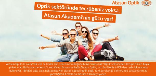 Atasun Optik Kariyer ilanı tasarımı